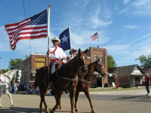Horse riders in The Grove, Texas